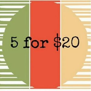 Just bundle 5 items and offer me $20!!!
